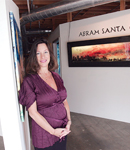 Creative Class: Lisa Schultz at the gallery in Culver City associated with TheWole9 Web site.
